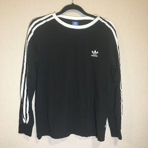 Adidas 3- Stripe Original Black Long Sleeved Tee
